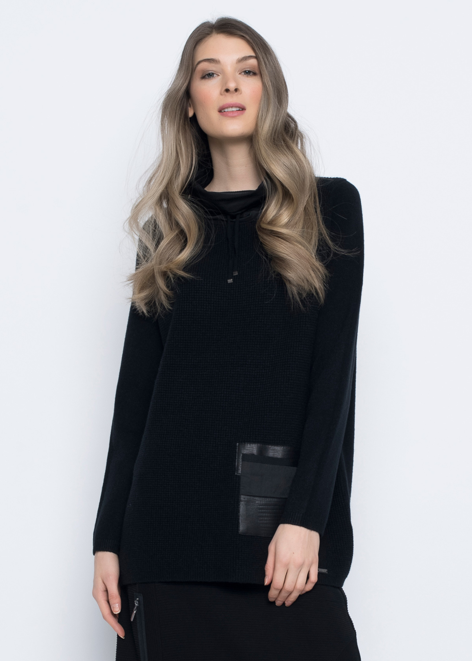 Picadilly Contract Trim Funnel Neck Sweater