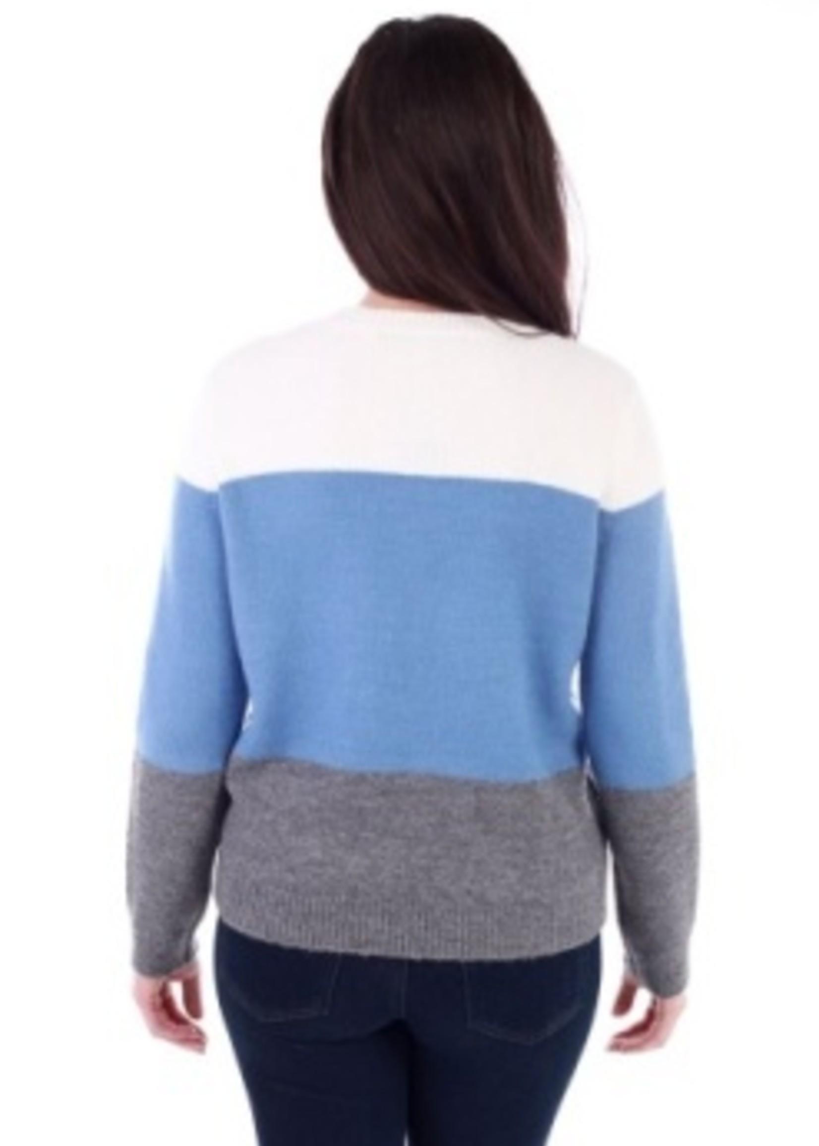 Colour Block Pullover Sweater