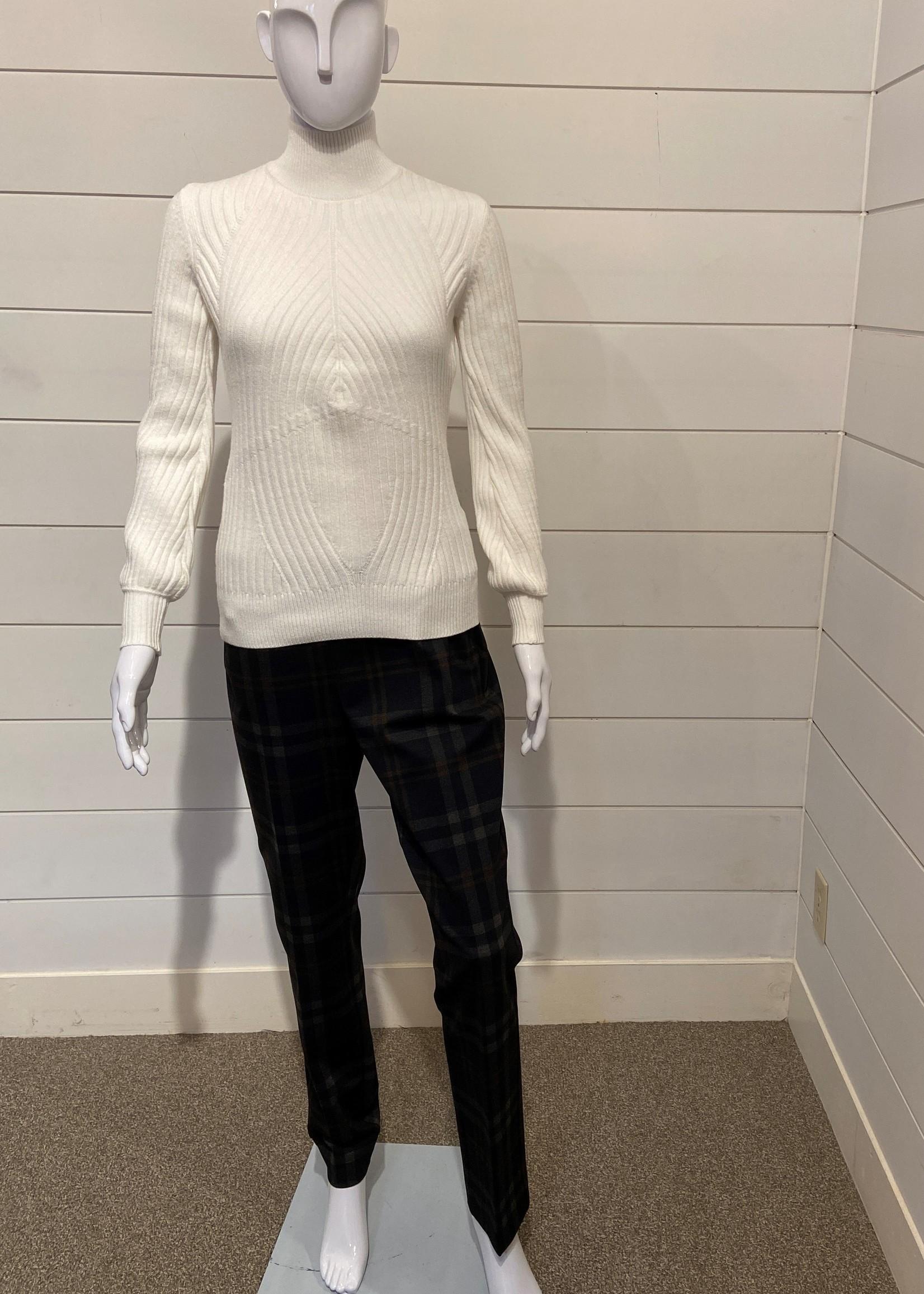 Kellyn Pullover Mock-Neck Sweater w/ Puff Sleeves