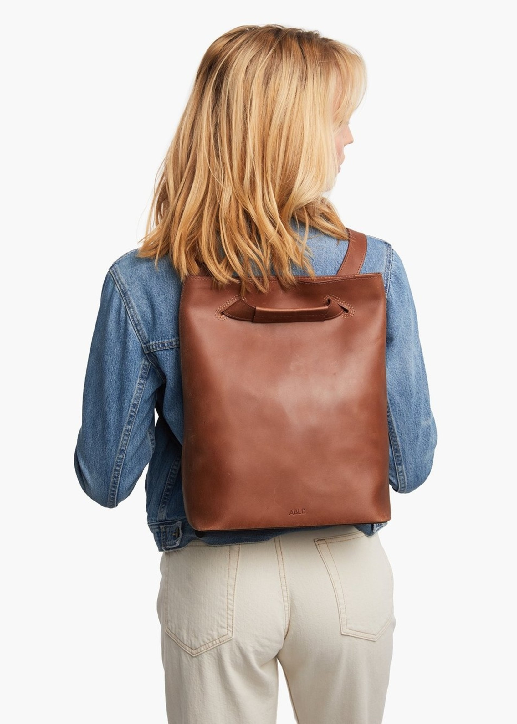 Able Leather Nelita Leather Backpack