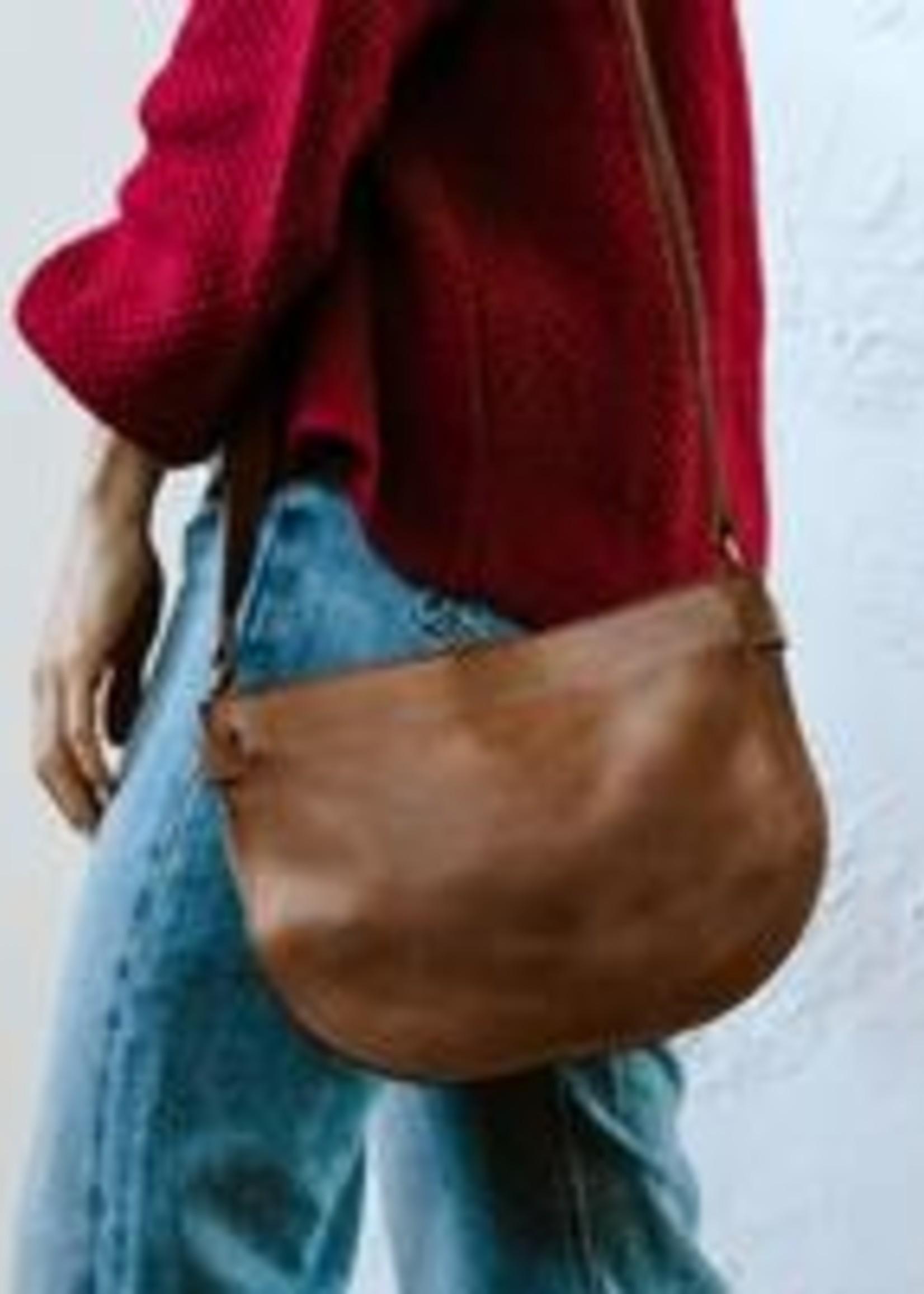 Able Leather Nara Crossbody Leather  Handbag