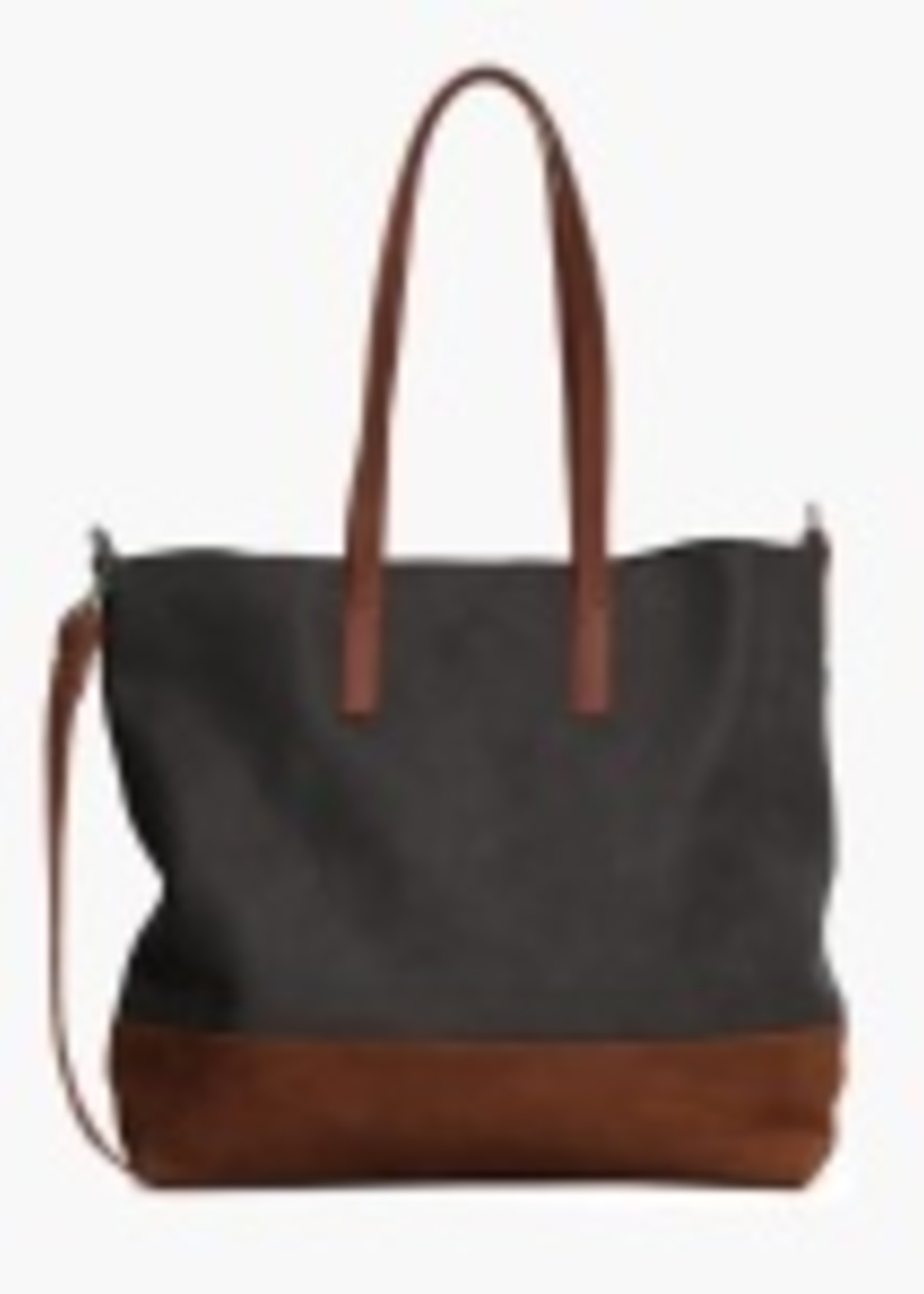 Able Leather Abera Leather Crossbody Tote Bk/Whiskey