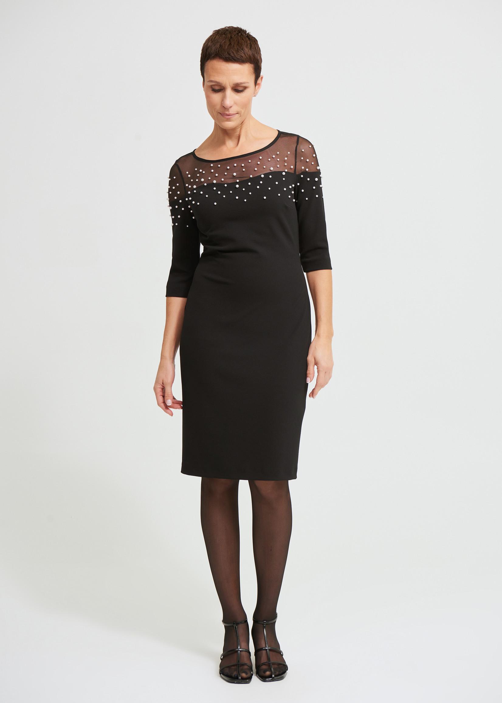 Joseph Ribkoff Dress with Pearl Details