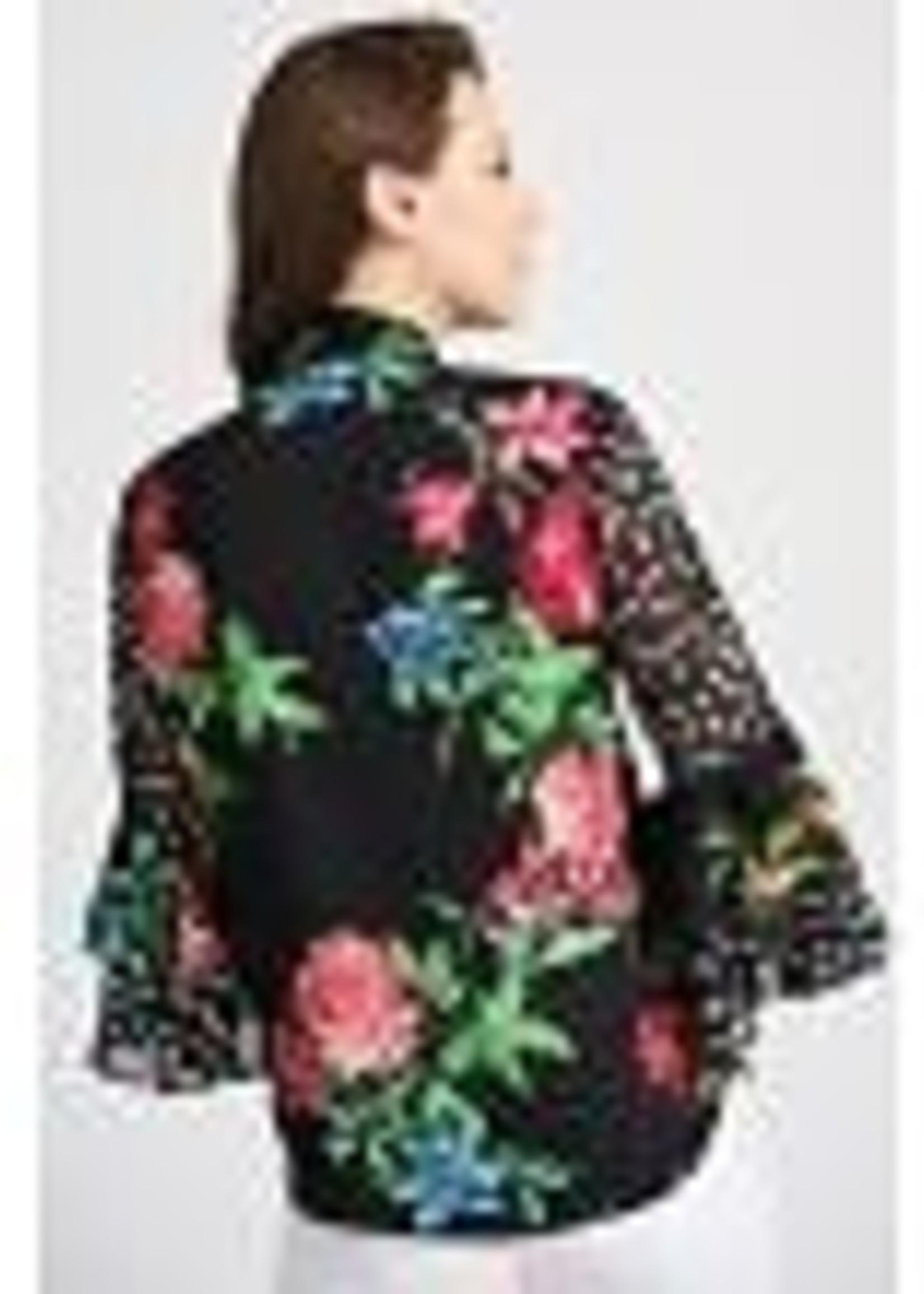 Joseph Ribkoff V-neck  Floral Blouse