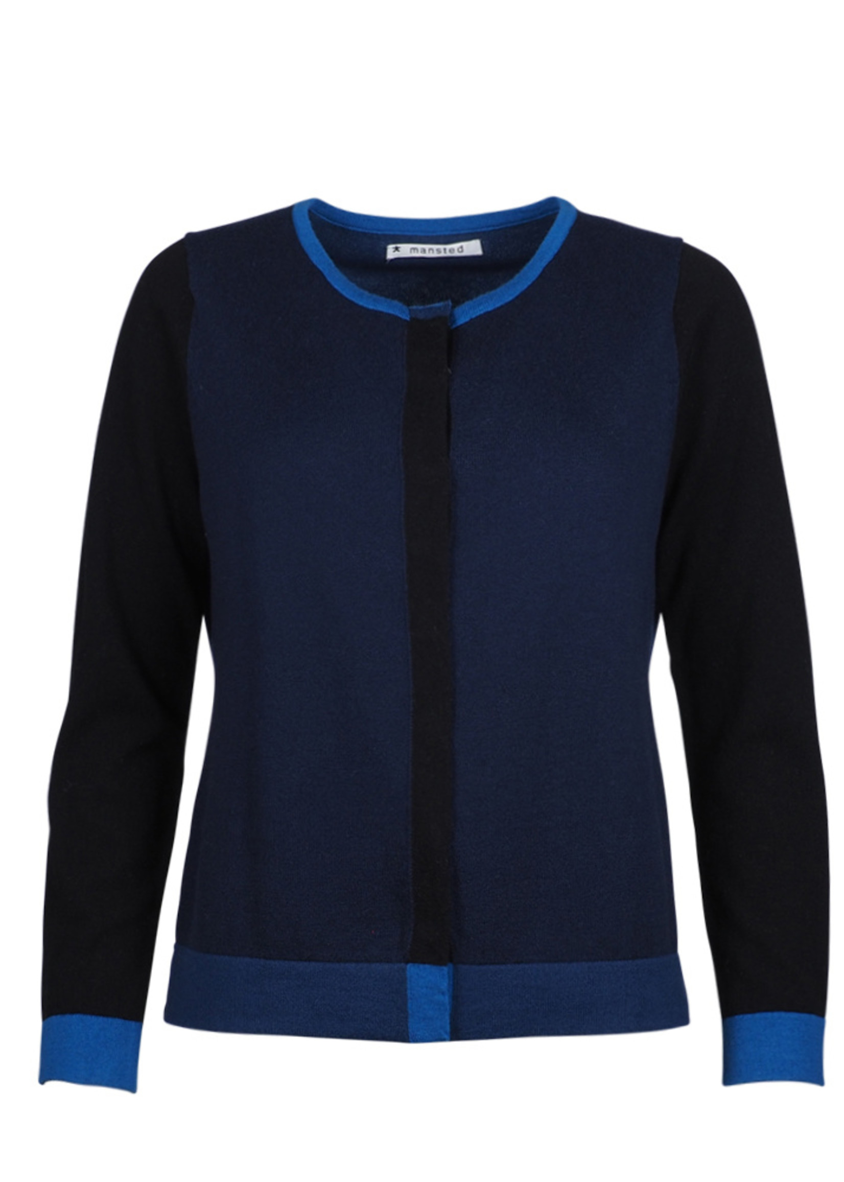 Mansted Merino Wool Colour Block Cardigan