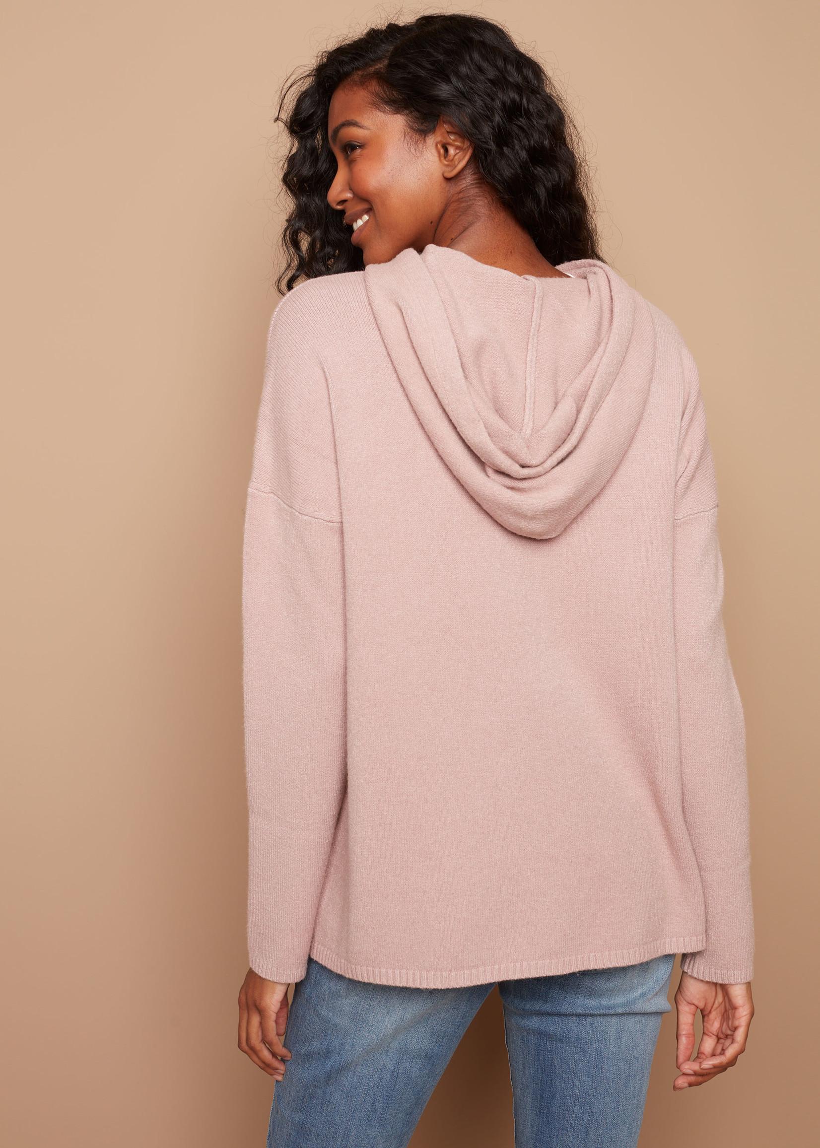 Charlie B Plush Hooded Knit Sweater