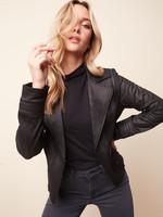 Charlie B Faux Black Leather Jacket