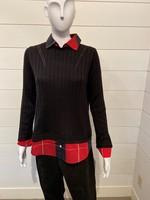 Foxcroft Sweater Blouse 2Fer