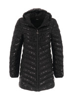 Dolcezza Black Mid Length Puffer Coat