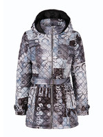 Dolcezza Print Quilt Mid-Length Coat