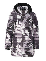 Dolcezza Puffer Coat Mid Length Patterned