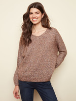 Charlie B V-neck Sweater with Dolman Sleeves