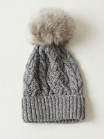 Parkhurst Cable Knit Hat with PomPom