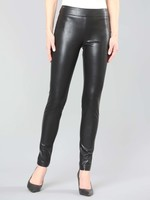 Lisette L Black Faux Leather Pants