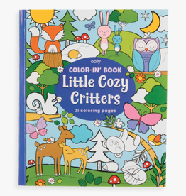 ooly color-in book: little cozy critters