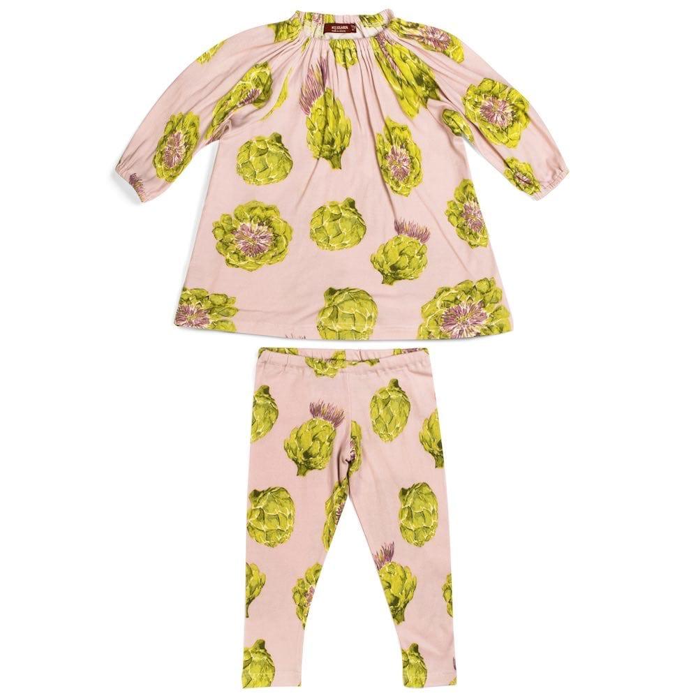 milkbarn LLC milkbarn organic ls dress and legging set