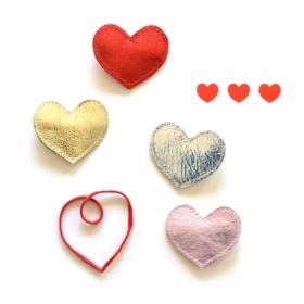 Hello shiso hello shiso big heart clip, red