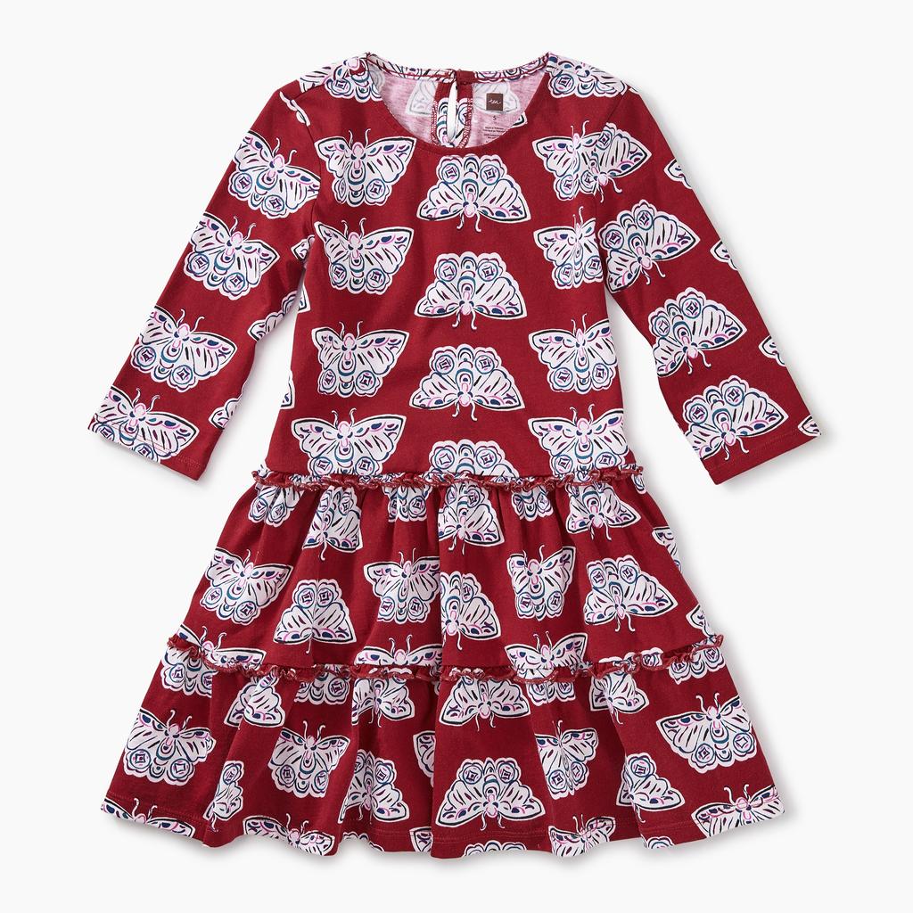 tea tiered winter dress