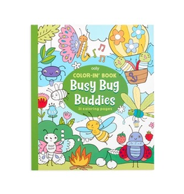 ooly color-in book: busy bug buddies