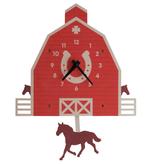 modern moose modern moose barn & horse pendulum clock