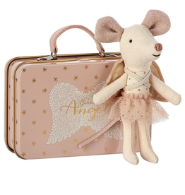 Maileg guardian angel mouse in suitcase
