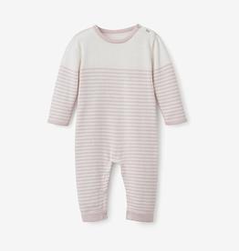 elegant baby lightweight striped jumpsuit