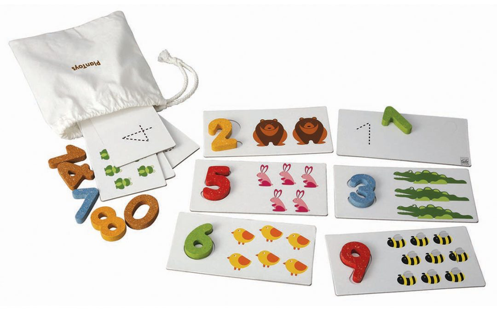 plan toys (faire) plantoys number cards 2y+
