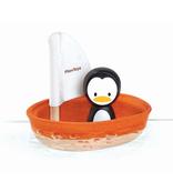 plan toys (faire) plantoys sailing boat - penguin 12m+