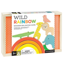 Petit Collage wild rainbow wooden stacking toy, 3+