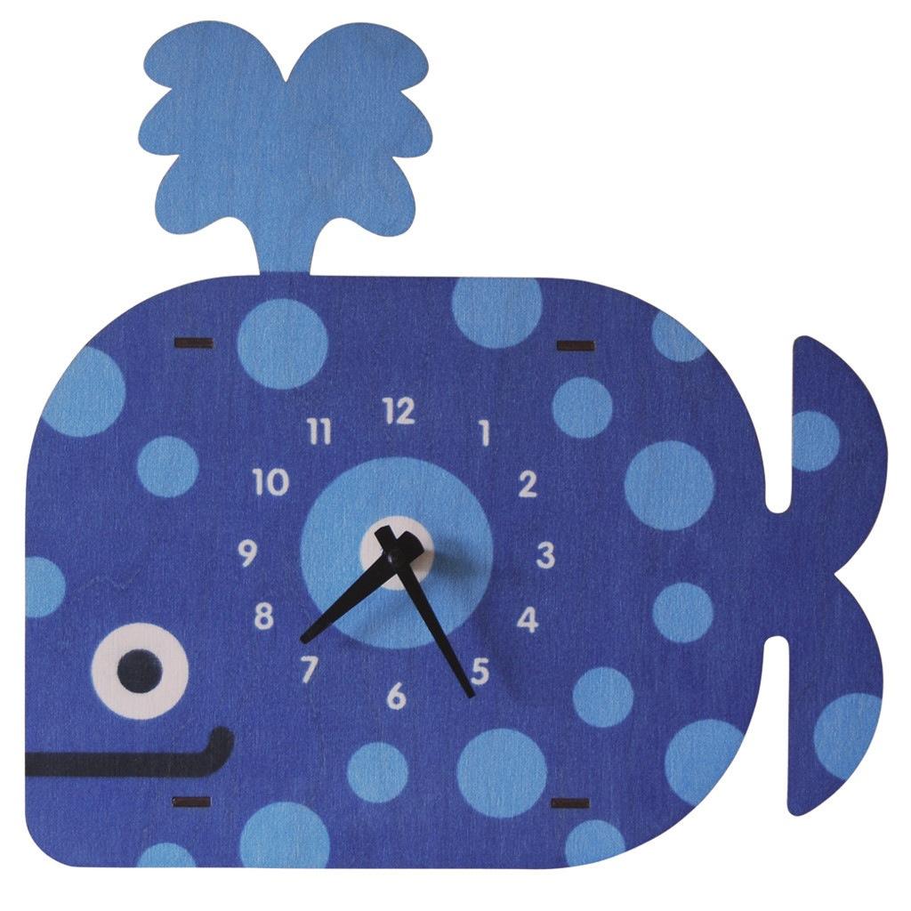 modern moose modern moose whale clock