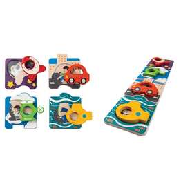 plan toys (faire) plantoys vehicle puzzle 12m+
