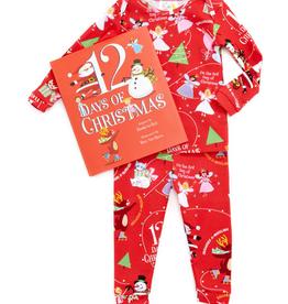Books to Bed, Inc 12 days of christmas boy pajama and book set