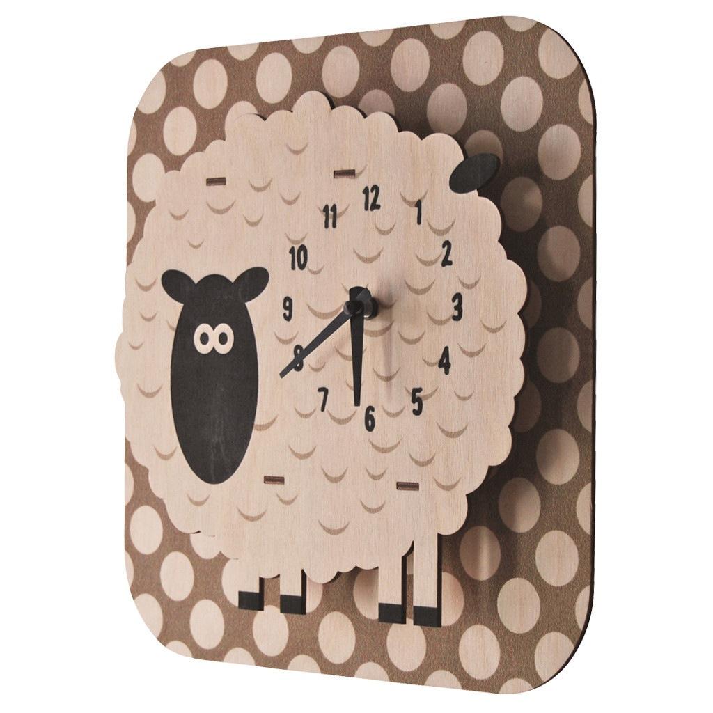 modern moose modern moose sheep clock