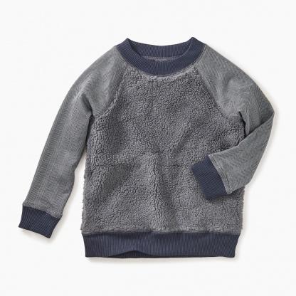 tea tea collection sherpa fleece sweatshirt - P-48502