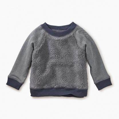 tea tea collection sherpa fleece sweatshirt - P-48610