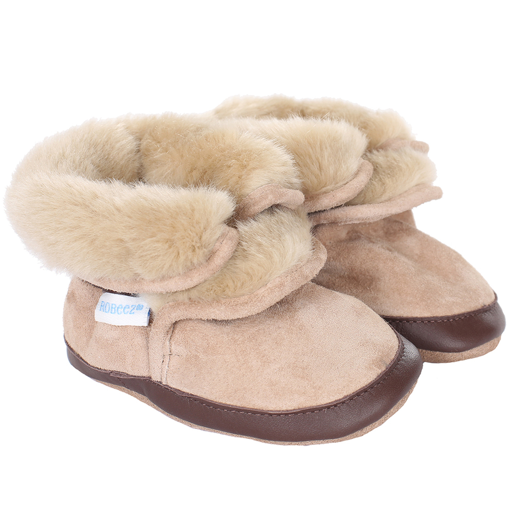 robeez robeez cozy ankle soft sole boot