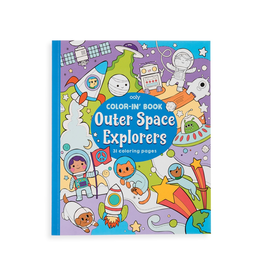 ooly color-in book: outer space explorers