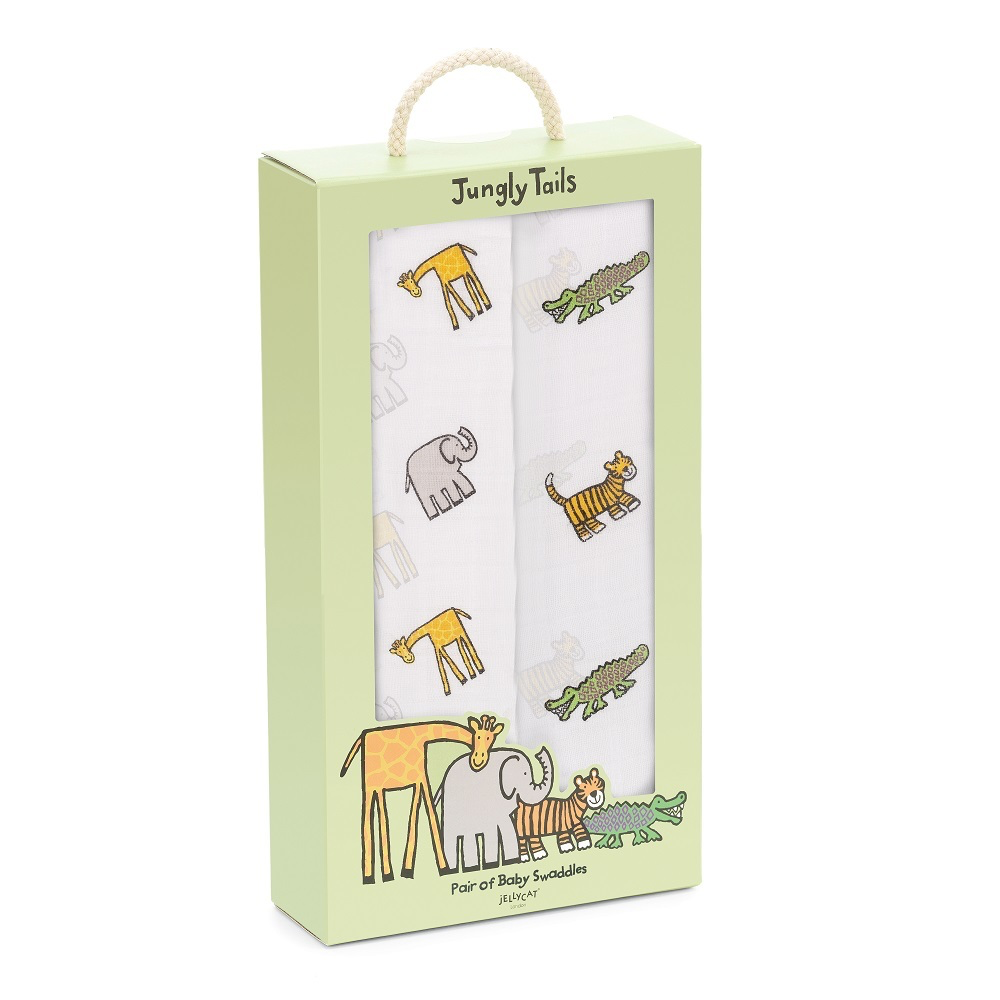Jellycat jellycat pair of swaddles