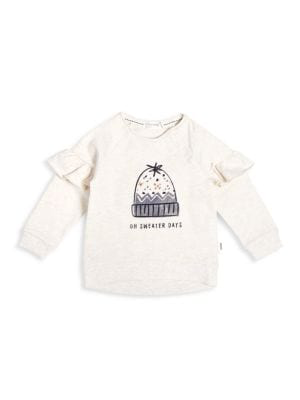 miles baby ruffle sweatshirt - P-54543