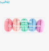 ooly ooly macaron patisserie scented erasers (set of 5)