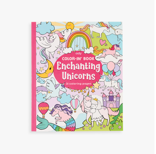 ooly color-in book: enchanting unicorns