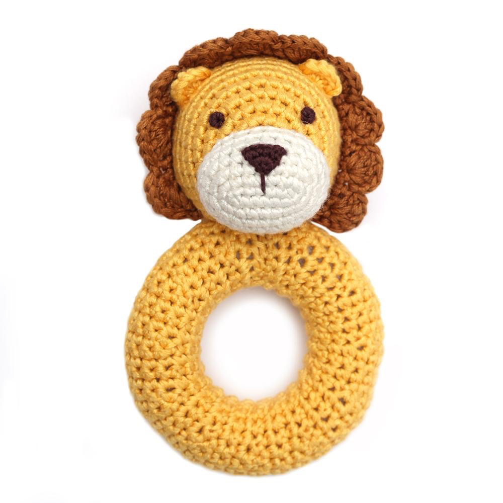 cheengoo (faire) hand crocheted ring rattle