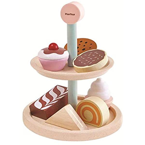 plan toys (faire) plan toys bakery stand set, 2y+