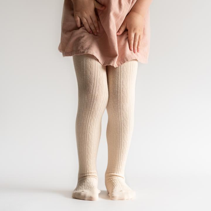 little stocking (faire) little stocking cable knit tights