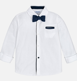 Mayoral mayoral luxe buttondown w/ bowtie