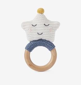 elegant baby celestial wooden ring rattle