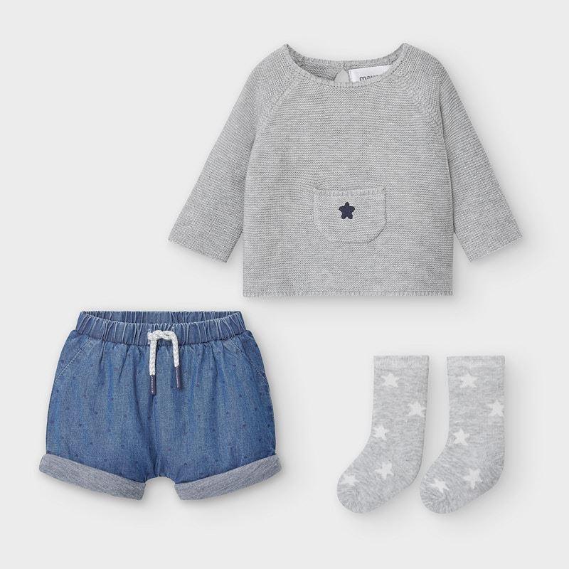Mayoral mayoral shorts & sweater set