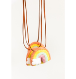 whimsical woolies (faire) woolies diffusing necklace, rainbow