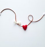whimsical woolies (faire) woolies diffusing necklace, hearts & tulle