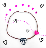 whimsical woolies (faire) woolies diffusing necklace, diamond heart